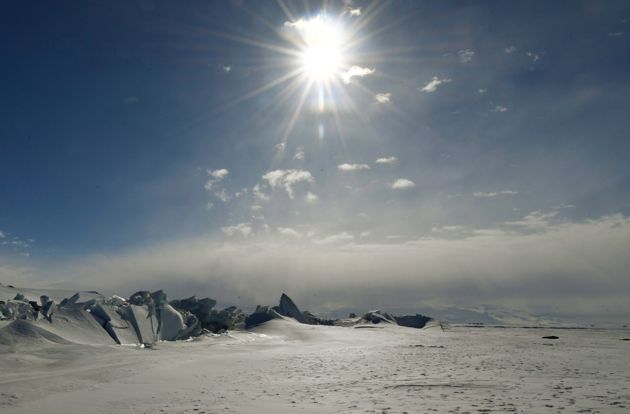European scientists will drill down 3km in Antarctica to capture ice from one and a half million years ago. (Mark Ralston/Pool Photo via AP)