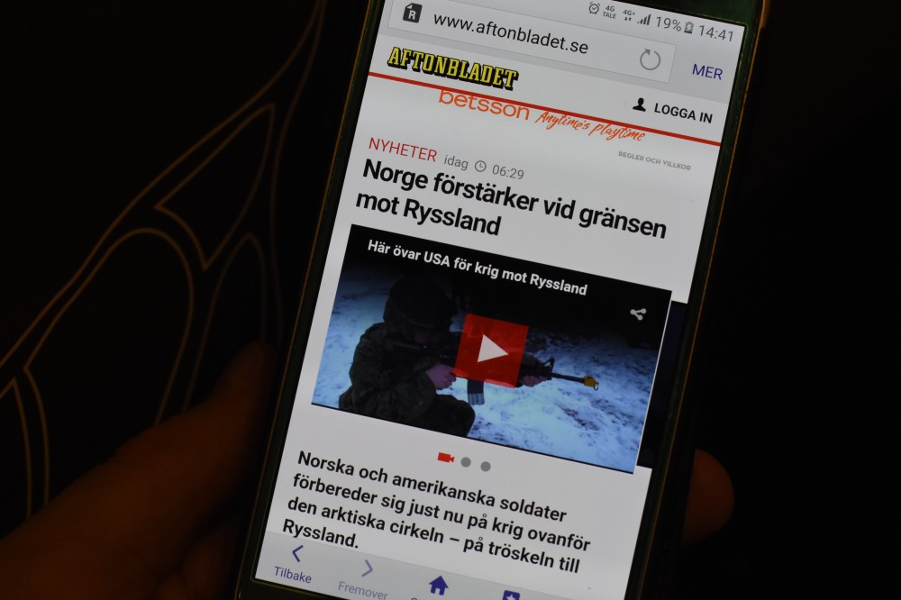 Aftonbladet's video-story claims American soldiers are training outside Kirkenes. (Thomas Nilsen/The Independent Barents Observer)