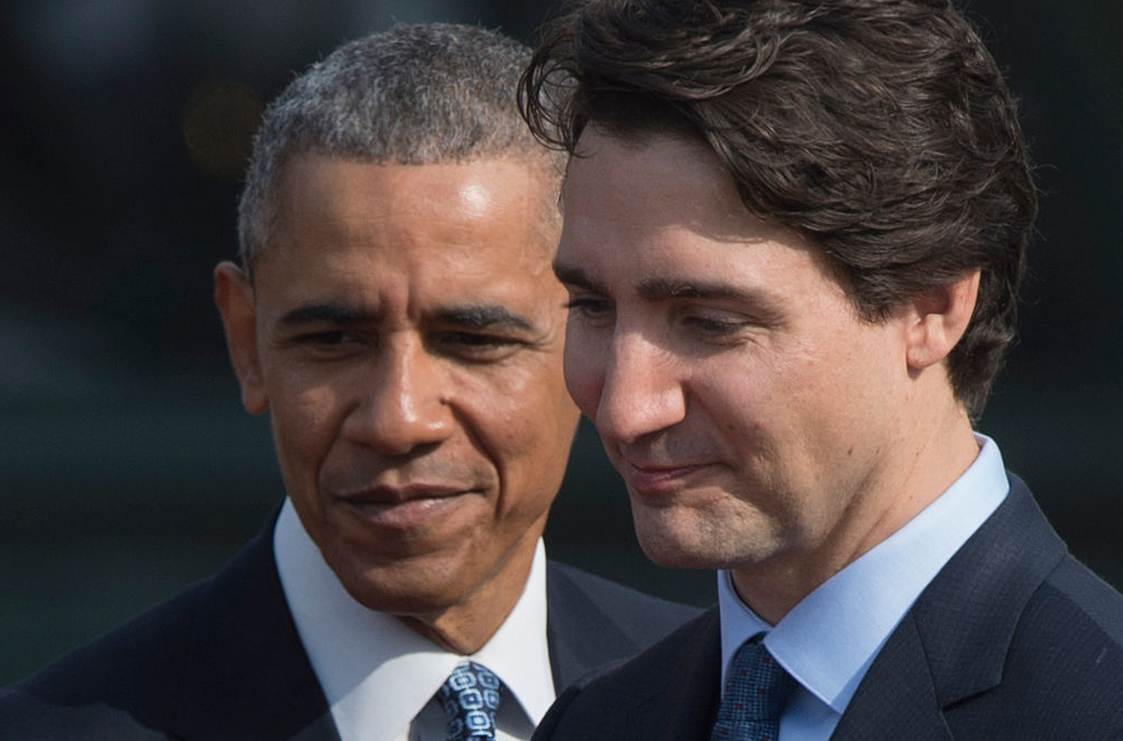 Canada's Prime Minister Justin Trudeau and US President Barack Obama at the White House in March 2016. Their joint-statement banning offshore Arctic drilling is being praised by environmental groups around the world. (Mandel Ngan/AFP/Getty Images)