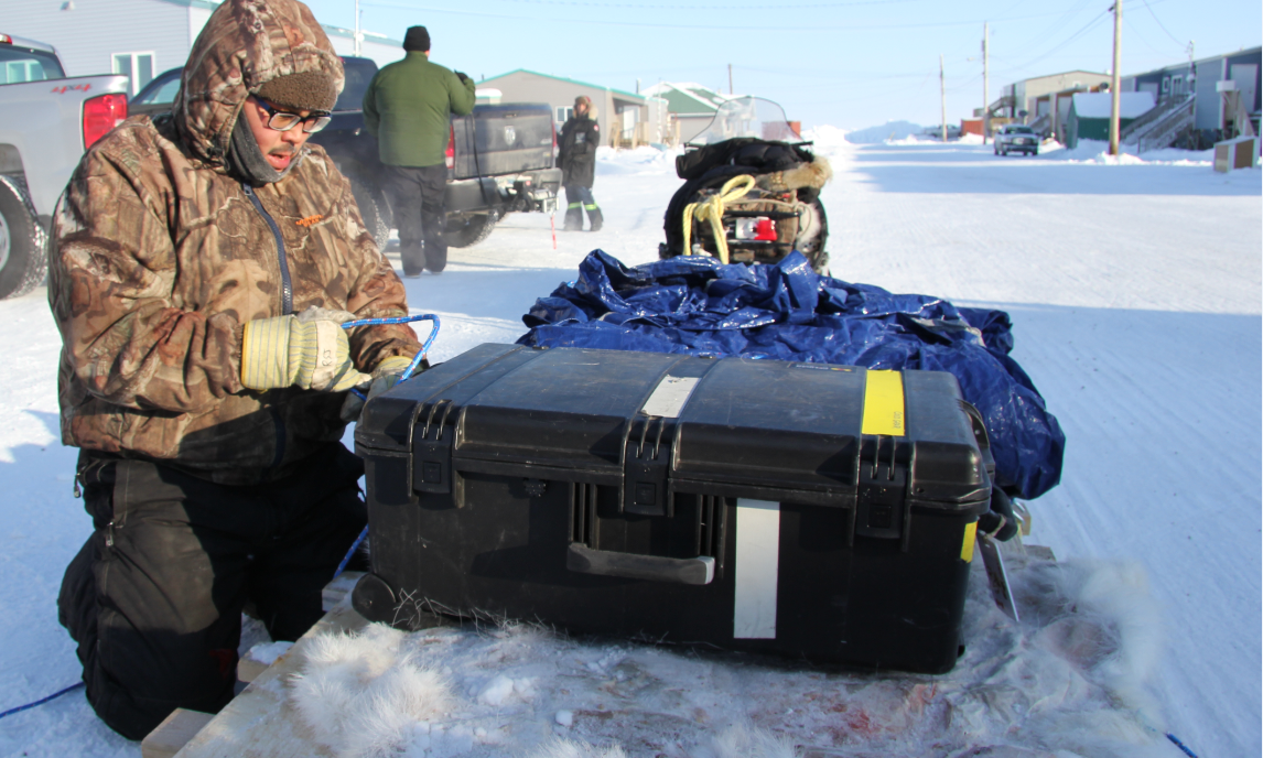 Roland Emingak gets ready for a day out on the land. Hunters like him are noticing increasing changes in the Arctic environment. (Eilís Quinn/Eye on the Arctic)