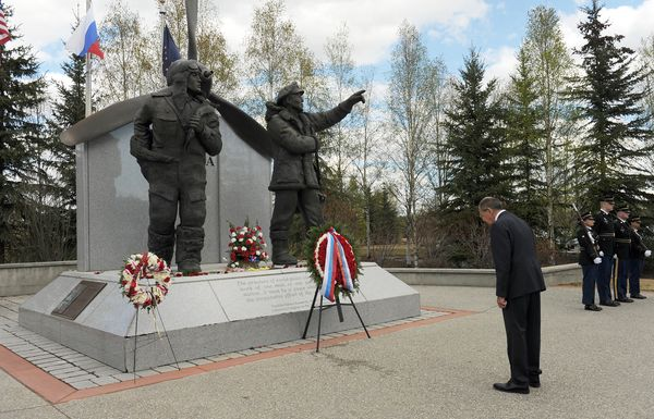 russias-foreign-minister-visits-lend-lease-monument-in-fairbanks
