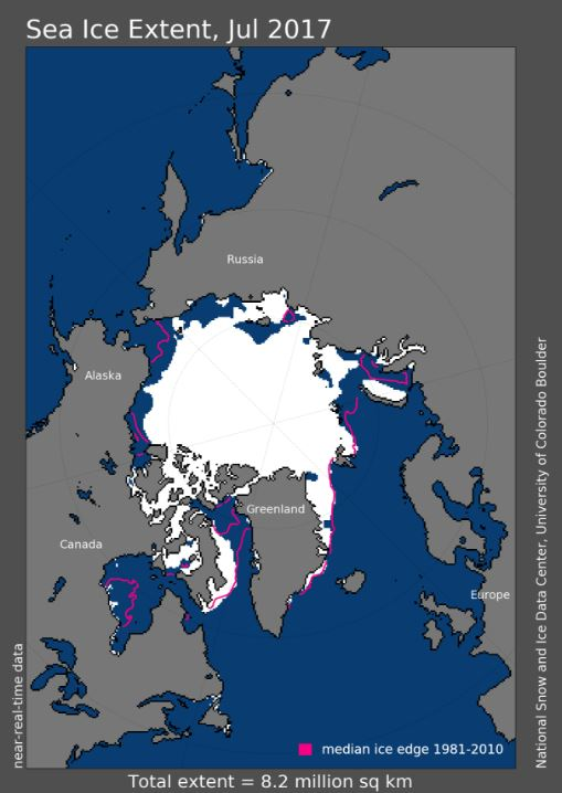 july-registers-fifth-lowest-arctic-sea-ice-extent-in-satellite-record