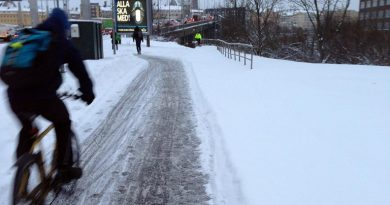 """""""Gender-equal snow-clearing"""" to benefit cyclists and pedestrians in Sweden"""