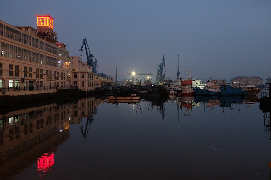 The port of Qingdao