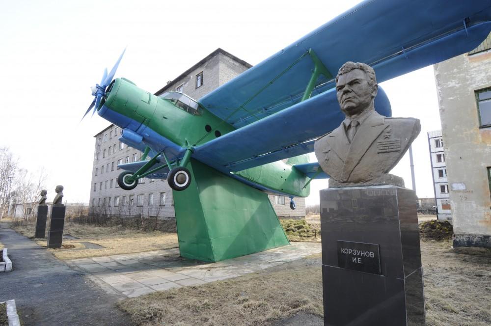 Colonel Yuri Korzunov, a Soviet hero pilot from World War 2, gave the name to the town of Korzunovo. (Thomas Nilsen/The Independent Barents Observer)