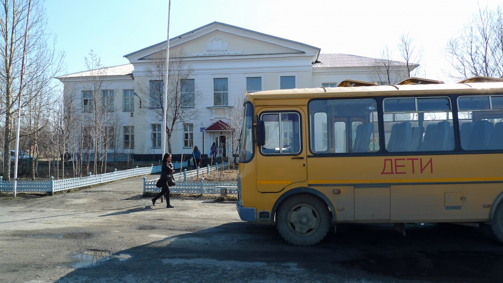 The school in Korzunova. (Thomas Nilsen/The Independent Barents Observer)