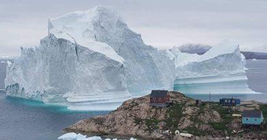 Greenland community on high alert as massive iceberg looms