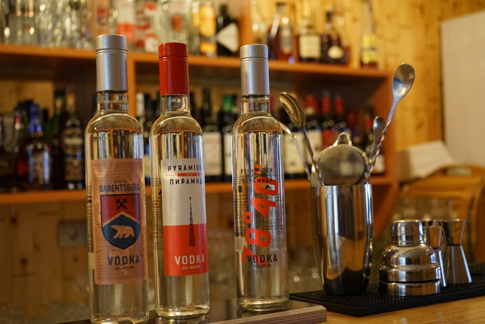 Both Barentsburg and Pyramiden have their own vodka brands. (Thomas Nilsen/The Independent Barents Observer)