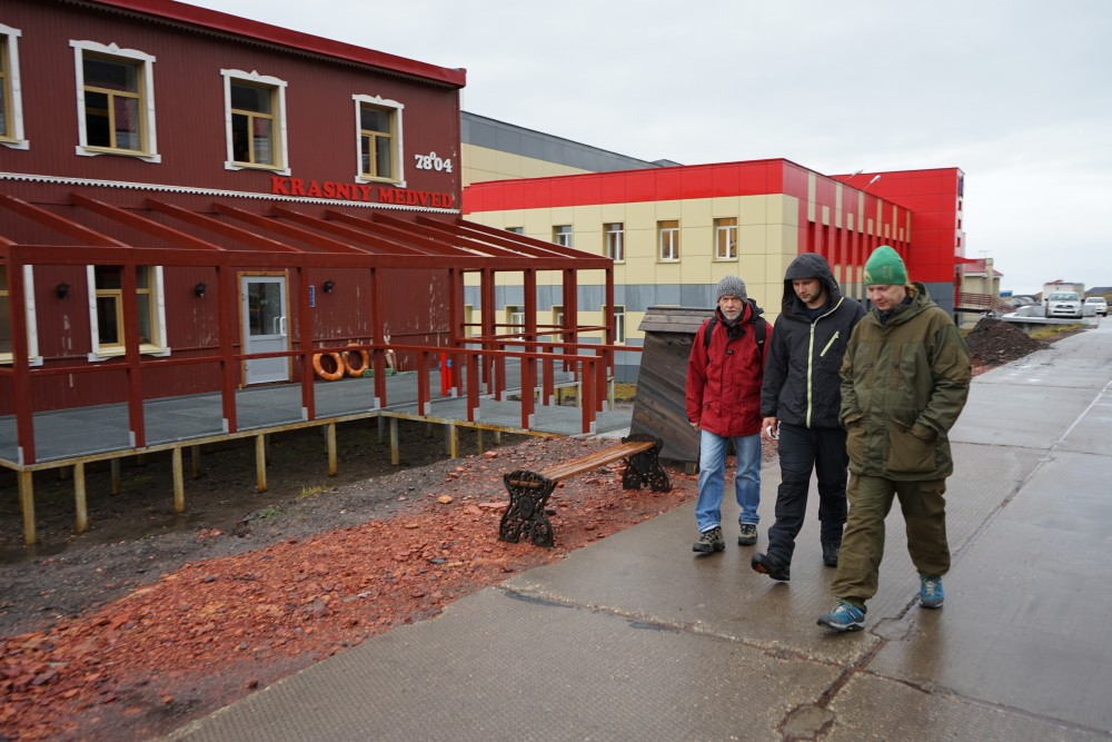 The new restaurant Krasniy Medved (Red bear). (Thomas Nilsen/The Independent Barents Observer)