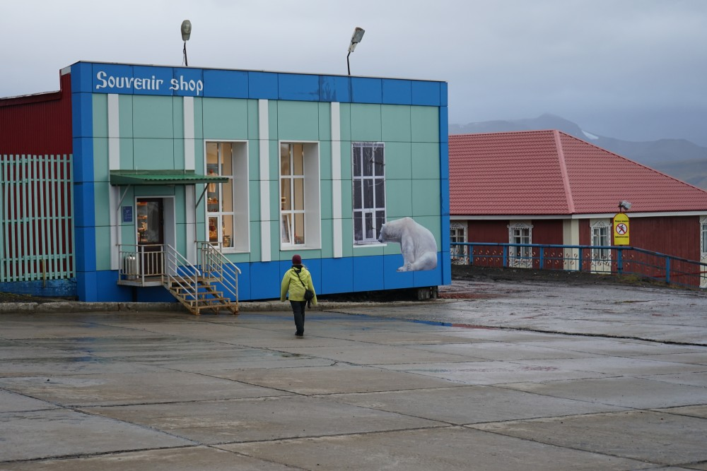 Souvenir shop in Barentsburg. (Thomas Nilsen/The Independent Barents Observer)