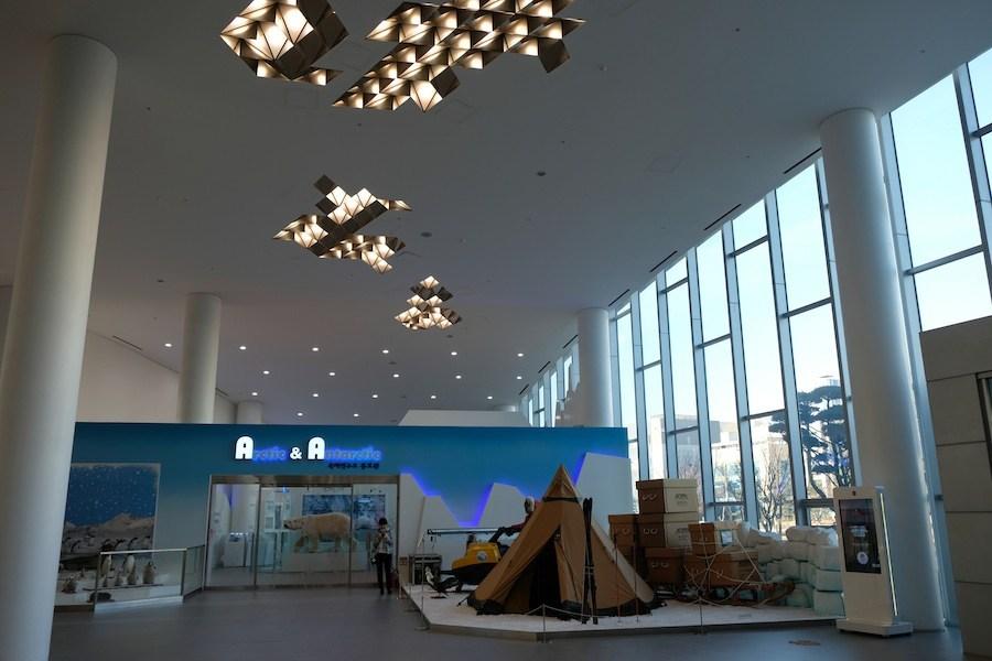 KOPRI's Arctic and Antarctic exhibit hall. (Mia Bennett/Cryopolitics)