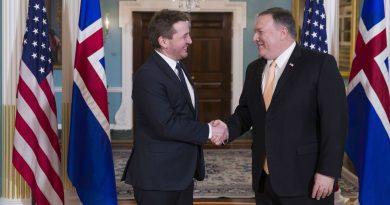 Iceland, U.S. FMs talk Arctic security, defence cooperation at Washington meeting