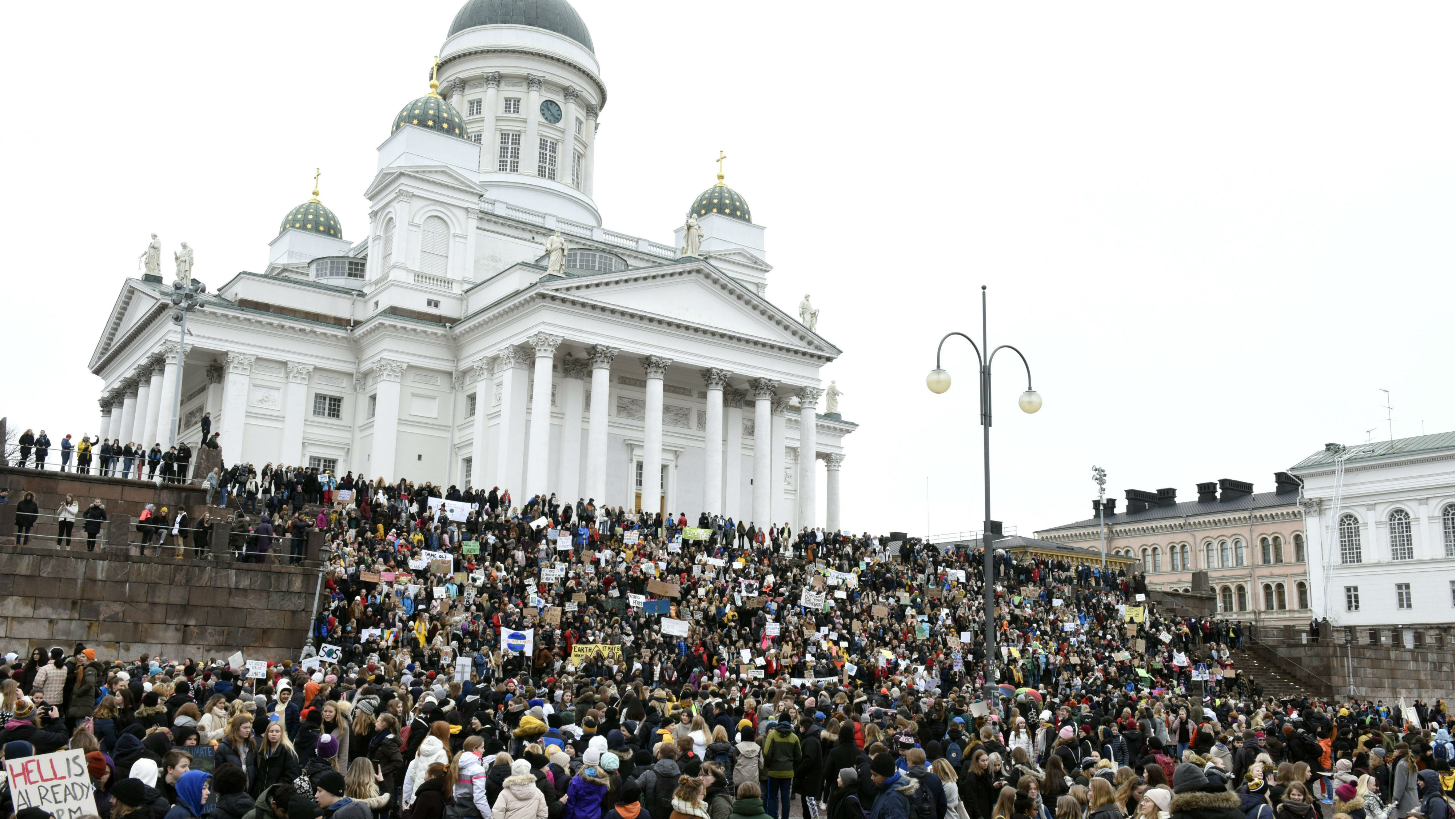Finnish youth join global climate strike