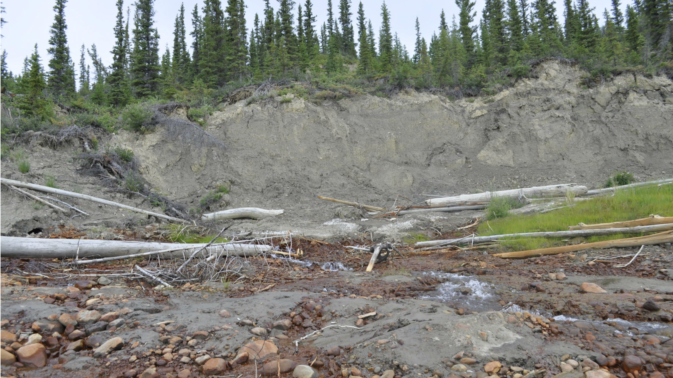 Shifting ground threatening homes in this Northern Canadian