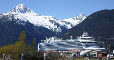 In Alaska, Skagway's economy depends on cruise tourism and little money is coming in