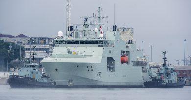 Canada names final ship in its Arctic patrol fleet after WW II navy pilot