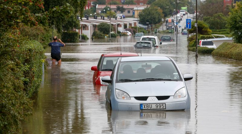 Heavier rainfall will increase risk of landslides and flooding in Sweden