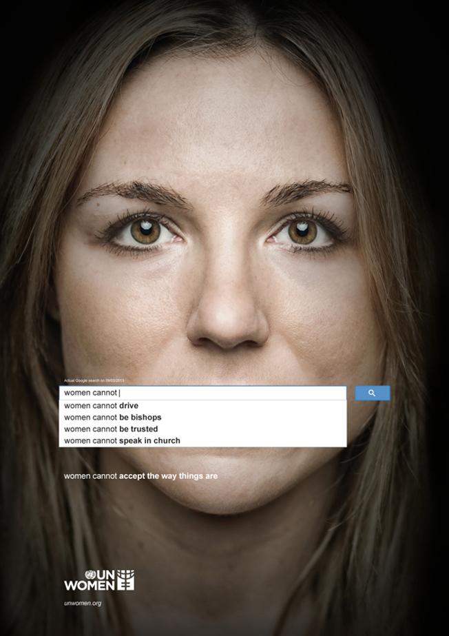 Affiche publicitaire de Femmes ONU