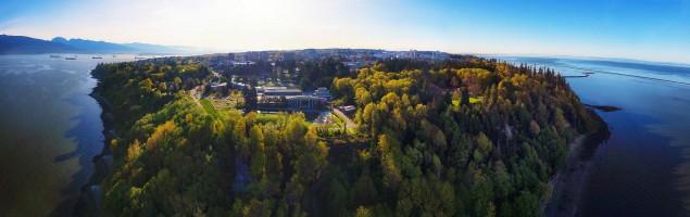 Panorama aérien, Université de la Colombie-Britannique