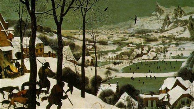 Les chasseurs dans la neige (1565). Huile sur bois 117 x 162 cm © Musée Kunsthistorishes
