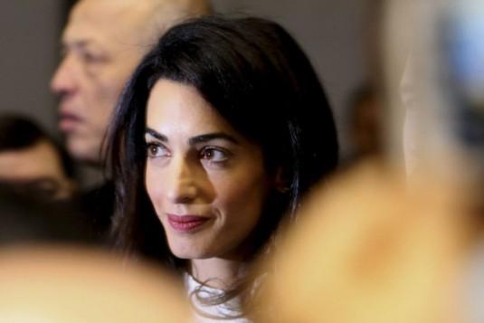 Amal Clooney est l'avocate du journaliste Mohamed Fahmy et femme de l'acteur américain George Clooney. PHOTO CHRISTIAN LUTZ, AP