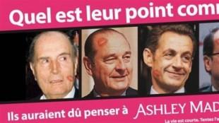 Le controversé site web a utilisé l'image d'hommes politiques réputés infidèles à plusieurs reprises, afin de conquérir de nouveaux marchés dans le monde.