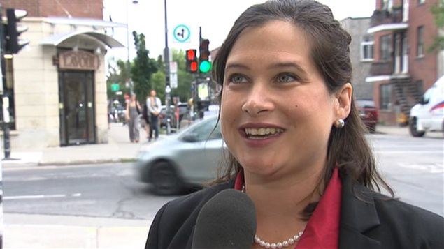 La candidate libérale dans Laurier-Sainte-Marie, Christine Poirier