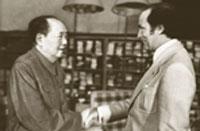 Rencontre entre le premier ministre Pierre Elliott Trudeau et le dirigeant chinois Mao Zedong à Beijing.Année: 1973.
