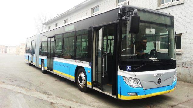 Bus électrique de 18m de Foton (http://www.foton-global.com/fr/)