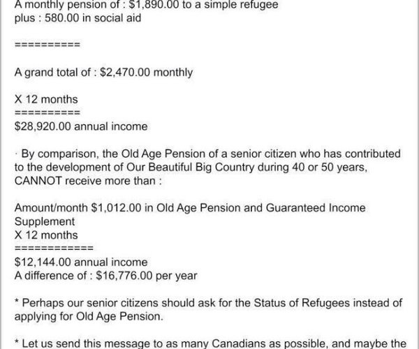 Plus d'aide aux réfugiés qu'aux retraités? Une légende urbaine qui persiste