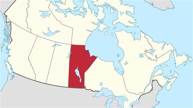 La province du Manitoba au centre du Canada.