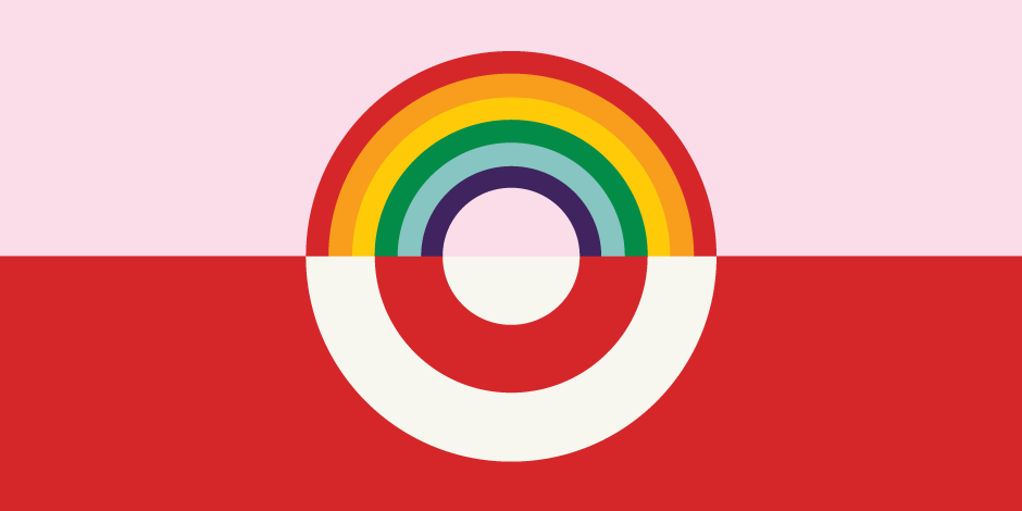Le logo de Target version arc-en-ciel