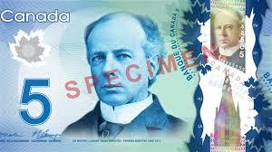 Spécimen, billet de 5$ canadien(Monnaie royale canadiene)