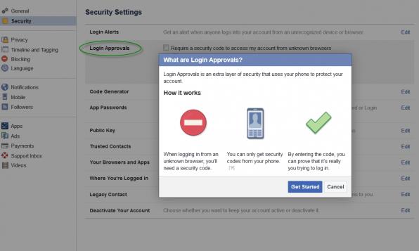 comment securiser son compte Facebook