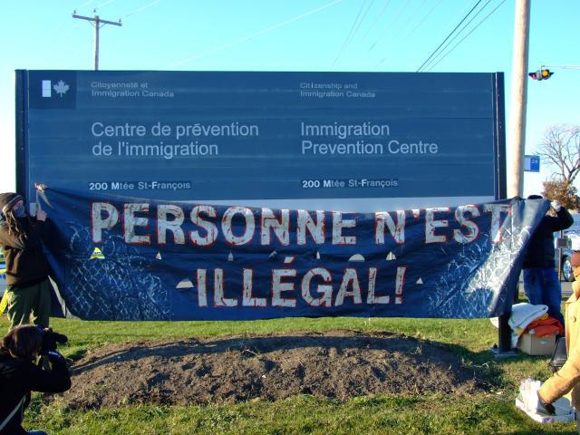 Des voix s'élèvent au Canada depuis 3 à 4 ans pour réclamer la fin des détentions. solidarityacrossborders.org