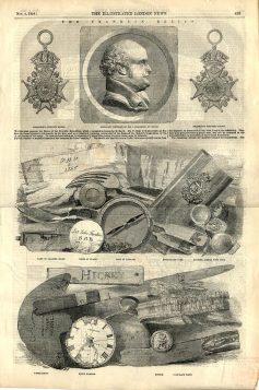 Reliques de l'expédition Franklin de 1845. Tiré du journal anglais Illustrated London News, 1854 / Wikimédia Commons