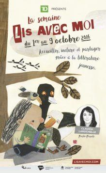 L'affiche de l'édition 2016 de la semaine Lis avec moi (lisavecmoi,.com)