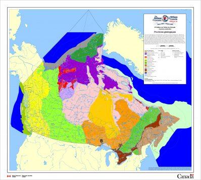 Provinces géologiques du Canada (Ressources naturelles Canada)