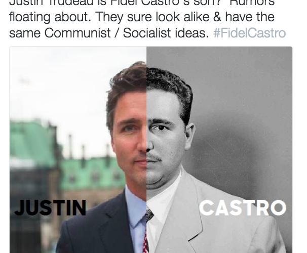 Justin Trudeau serait-il le fils secret de Fidel Castro? C pas vrai!