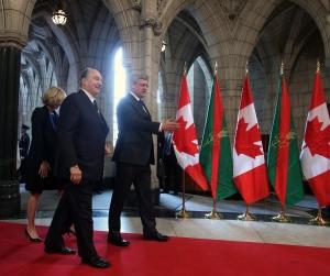 L'Agha Khan et Stephen Harper en 2014 Fred Chartrand/Canadian Press)