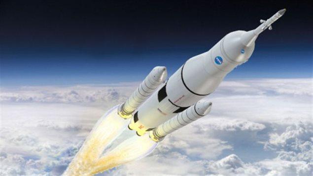 Représentation de l'ascension du vaisseau Orion. À la suite du nouveau processus de sélection lancé cette semaine, La NASA annoncera la liste des personnes sélectionnées à la mi-2017.