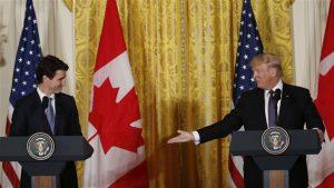 Teamsters Canada se félicite de la première rencontre au sommet entre le premier ministre du Canada Justin Trudeau et le président des États-Unis Donald Trump  Photo Credit: Kevin Lamarque / Reuters