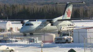 Aéroport régional de Gaspé au Québec. Radio-Canada