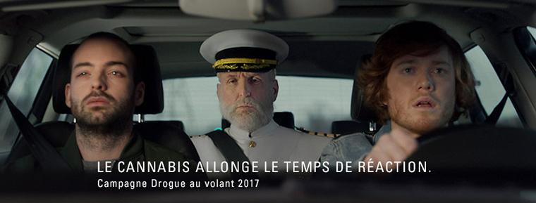 Les publicités récemment mises en ligne par la SAAQ mettent l'accent sur le délai de réaction plus long chez les conducteurs qui ont consommé du cannabis. Photo : Société de l'assurance automobile du Québec (SAAQ)