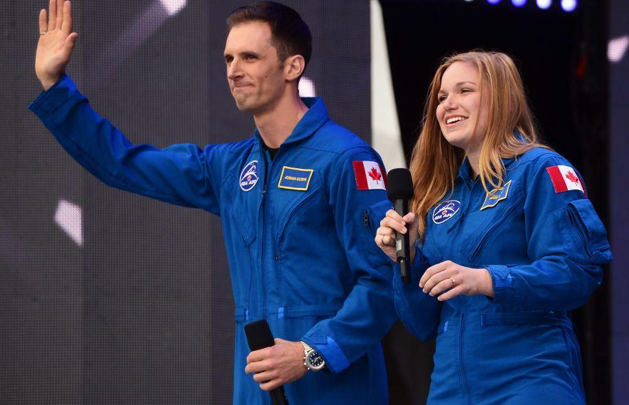 Les Albertains Jenni Sidey et Joshua Kutryk Photo: Sean Kilpatrick La Presse canadienne