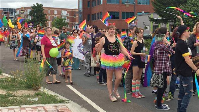 Les couleurs arc-en-ciel de la communté LGBT Photo Credit: Radio-Canada/Maryse Lemieux