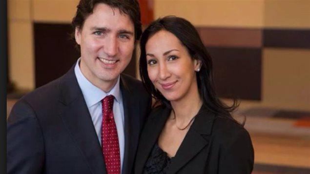 Justin Trudeau et Marwah Rizqy lors de la campagne électorale fédérale de 2015. Photo Credit: Parti libéral