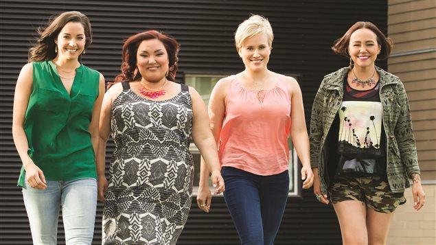 Les quatre principales actrices de la série Mohawk Girls Photo Credit: Éric Myre/ Rezolution Pictures