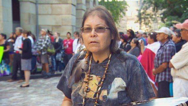 La chef de la Première Nation Beaverhouse, Marcia Brown Martel - Radio-Canada