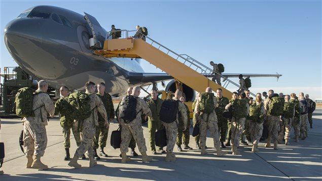 Des soldats canadiens en Irak Photo Credit: Crédit photo : REUTERS/Caporal Audrey Solomon/Canadian Armed Forces/Handout